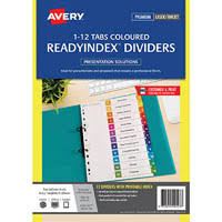 avery 920146 l7411 6 ready index dividers pp multicolour 1 6 tabs