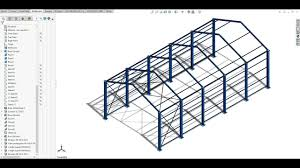 industrial shed design 10 20 m span using solidwork as per