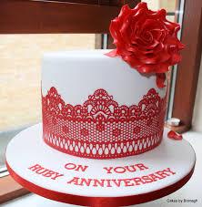 ruby wedding cakes ruby wedding anniversary cake cakes by bronagh celebration cakes