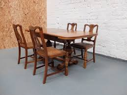 1930 Dining Table Sold Sold 1930s Oak Extending Dining Table And 4 Chairs With 1930