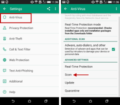 virus scan android how to adjust scan settings in kaspersky security for android