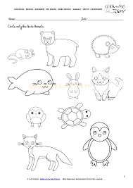 animals worksheet activity sheet circle 1