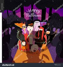 happy halloween cover photos happy halloween greeting card lettering vector stock vector