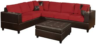 living room contemporary living room decoration using red leather