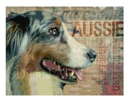 australian shepherd yard art aussie dog etsy
