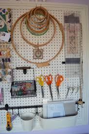 sewing room pegboard thecraftycreek
