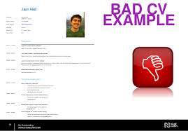 Example Of Bad Resume How To Write A Successful Cv