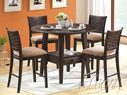 5 piece tommy counter height dining set with round table top in