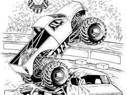 grave digger coloring page grave digger monster jam truck coloring