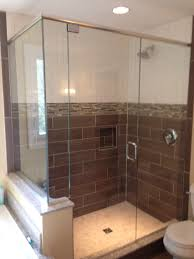 unique design of a frameless shower door this particular design