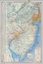 Atlantic City Map Shell Highway Map Of New Jersey David Rumsey Historical Map