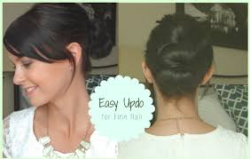 Easy Dressy Hairstyles For Long Hair by Easy Updo For Fine Hair Youtube