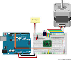 Stepper Motor Driver Wiring Diagram Javascript Robotics Stepper Driver With Johnny Five