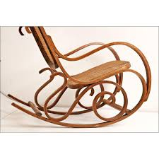 Cane Rocking Chair Vintage Thonet Style Bentwood Cane Rocking Chair Chairish