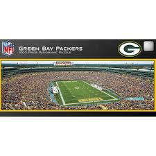 green bay packers halloween costumes master pieces green bay packers panoramic stadium puzzle 1 000
