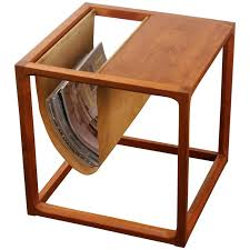 Teak Side Table Vintage Teak Side Table With Magazine Rack Teak