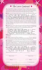 Post Marital Agreement Template Love Contract Template Template Design