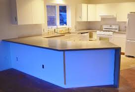 kitchen white waterfall edge countertop kitchen cabinet door