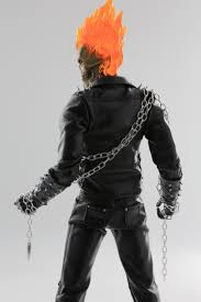 1 6 ghost rider johnny blaze costume with lighting head sculpt