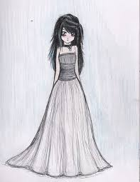 drawing of a in a dress custom wedding dress sketch