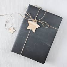 chalkboard wrapping paper chalkboard gift wrap by newton and the apple notonthehighstreet