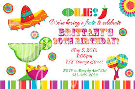 fiesta fun invitation u print birthday cinco de mayo