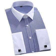 french cuff slim fit striped dress shirts for men ebay