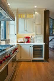 photos hgtv antique white country kitchen with wine refrigerator
