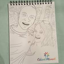 custom coloring book colored moments