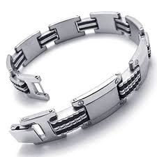mens bracelet stainless steel rubber images 11710 best ideias para joalheria images jewellery jpg