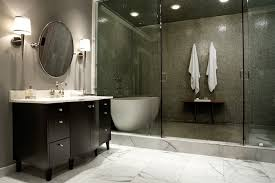 walk in shower bathroom ideas dark olive green porcelain wall