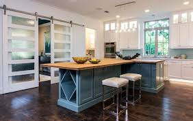 Etched Glass Designs For Kitchen Cabinets 25 Trendy Kitchens That Unleash The Allure Of Sliding Barn Doors