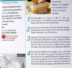 fiche cuisine fiche cuisine tarte au citron meringuée