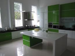 Glossy Kitchen Cabinets Green Glossy Kitchen Cabinets