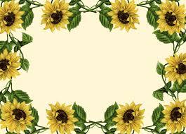 sunflower border clip art sunflower clip art borders wallpapers