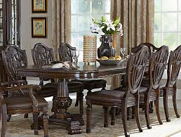 homelegance chilton double pedestal dining table with leaf