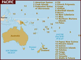 niue on world map map of pacific