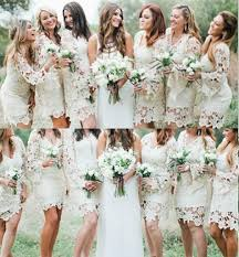 Outdoor Wedding Dresses Long Sleeve Bridesmaid Dresses V Neck Garden Wedding Dresses
