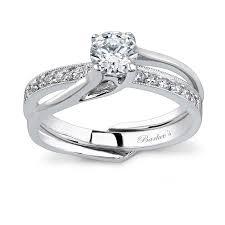 interlocking engagement ring wedding band barkev s white gold diamond engagement ring set 7243s barkev s