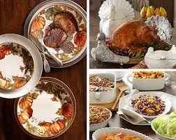 turkey serveware for thanksgiving pottery barn