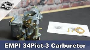 jbugs product showcase empi 34 pict 3 carburetor youtube