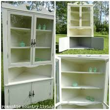 romantic country living annie sloan chalk paint corner hutch