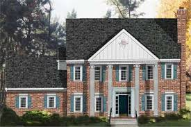 georgian style house plans colonial georgian home with 4 bdrms 2261 sq ft floor plan 105 1054