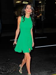is amal clooney hair one length amal clooney s style file