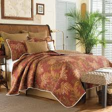 tommy bahama orange cay quilt is a darker color than i prefer but means the window