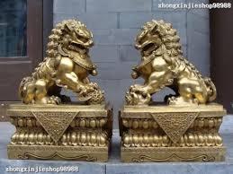 foo lion statue aliexpress buy 17 brass copper evil fu foo dog