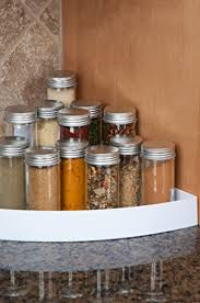 Tier Kitchen Cabinet Spice Rack Corner Organizer For Spices In - Kitchen cabinet spice storage