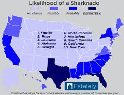 Live Attack Map Which U S States Are Most Likely To Experience A Sharknado