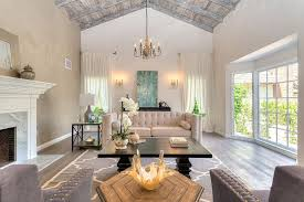 Chandelier For Cathedral Ceiling Traditional Living Room With Box Ceiling U0026 Chandelier Zillow