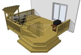 porch blueprints decks free plans